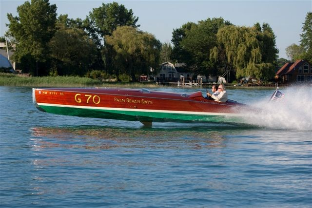 """Gentleman's Racer """"Palm Beach Days"""", owned and driven by Mark Mason. Airborne, fin visible."""